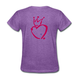 His Queen Custom Women's T-Shirt - purple heather