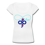 THE iNfinite Love Women's Scoop Neck T-Shirt - white