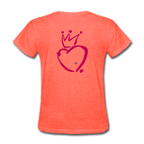His Queen Custom Women's T-Shirt - heather coral