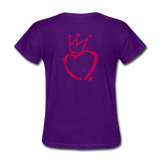 His Queen Custom Women's T-Shirt - purple