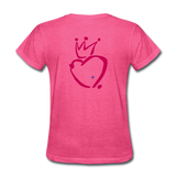 His Queen Custom Women's T-Shirt - heather pink