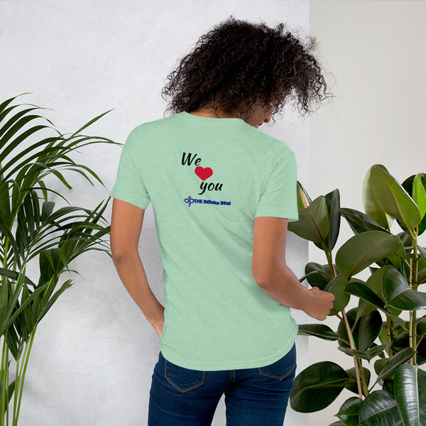 Infinite Love Surrounds You Women's & Men's Custom T-shirts