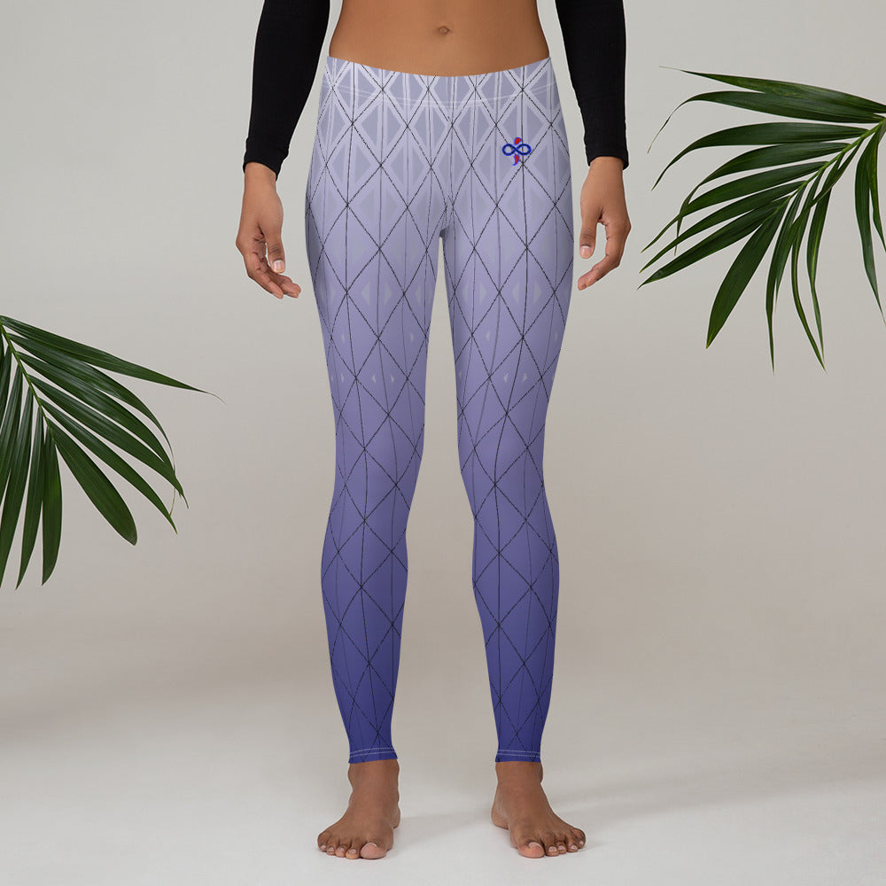 3D Purple Silver Haze 2nd Skin Women's Custom Leggings