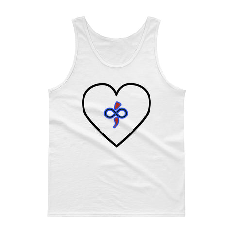 The Infinite Love Heart You Customize-able Women's & Men's Tank top