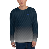 Deep Navy Silver Honeycomb Custom Designed Women's & Men's Sweatshirt