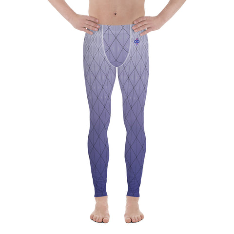 3D Purple Silver Haze 2nd Skin Men's Custom Leggings