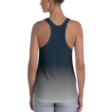 Deep Navy Silver Honeycomb Custom Designed Women's Racerback Tank