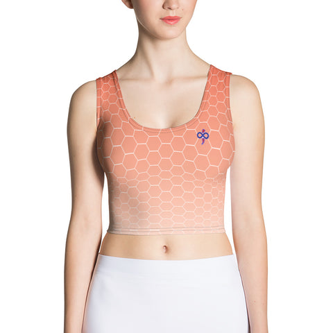 Sunburst Red Honeycomb Haze Soft Breathable Women's Custom Crop Top