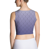 3D Purple Diamonds Over 2nd Skin Women's Custom Crop Top