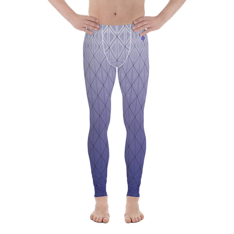 3D Purple Diamond 2nd Skin Men's Custom Leggings