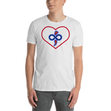 The Infinite Love Heart Short-Sleeve Women's & Men's Custom T-Shirt