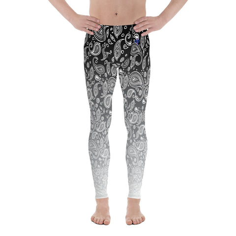 Cookies n Cream Hazy Paisley 2nd Skin Men's Custom Leggings