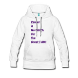 Cancer is No Match Hoodie - white