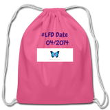 Cotton Drawstring Bag - pink