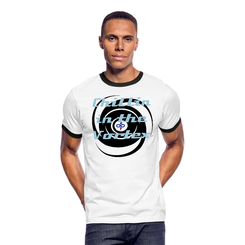 Chillin in the Vortex Living LFD & Loving It Women's & Men's Ringer T-shirt - white/black