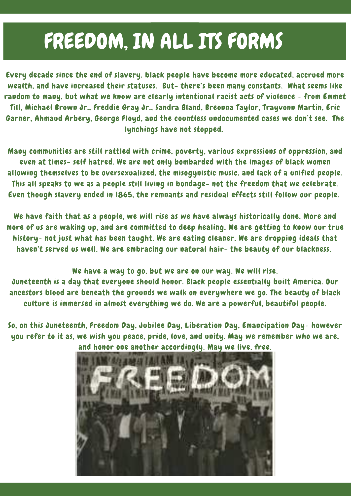 Fruits N' Rootz | Juneteenth Freedom Day