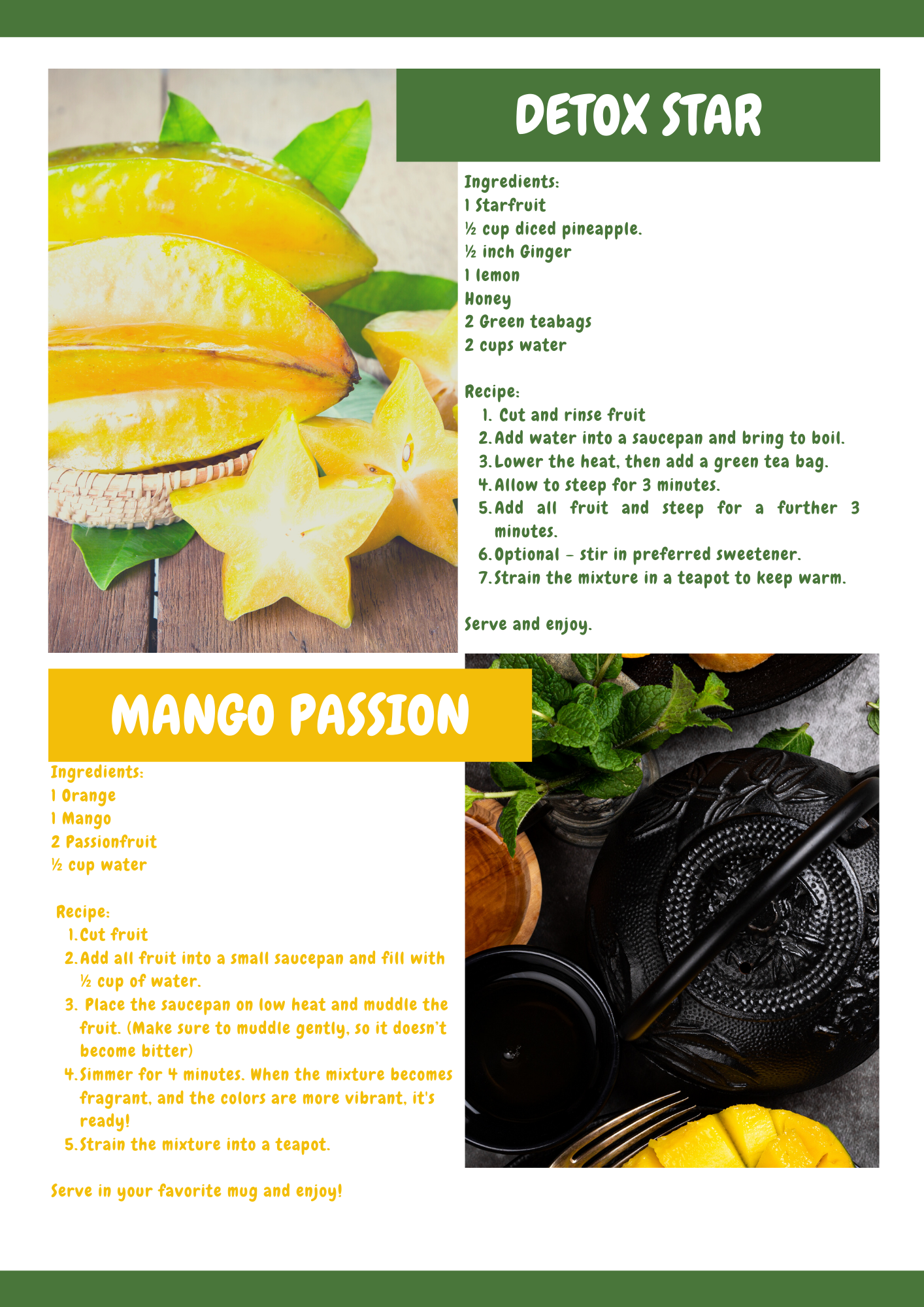 Fruits N Rootz | World Tea Day | 4 Utterly Delicious Tropical Fruit Tea Recipes