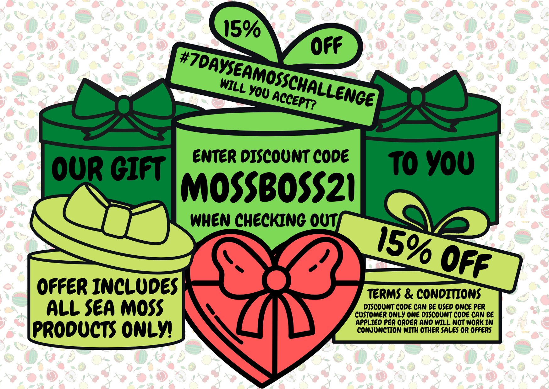 15% OFF Discount Sale Wildcrafted Sea Moss