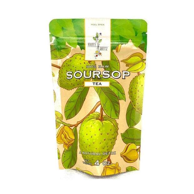 Organically Grown Soursop Leaf Tea fruit Fruits n' Rootz 1 Pack