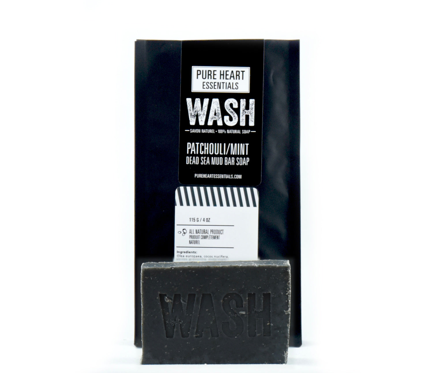 WASH – PATCHOULI/MINT & DEAD SEA MUD (VEGAN)