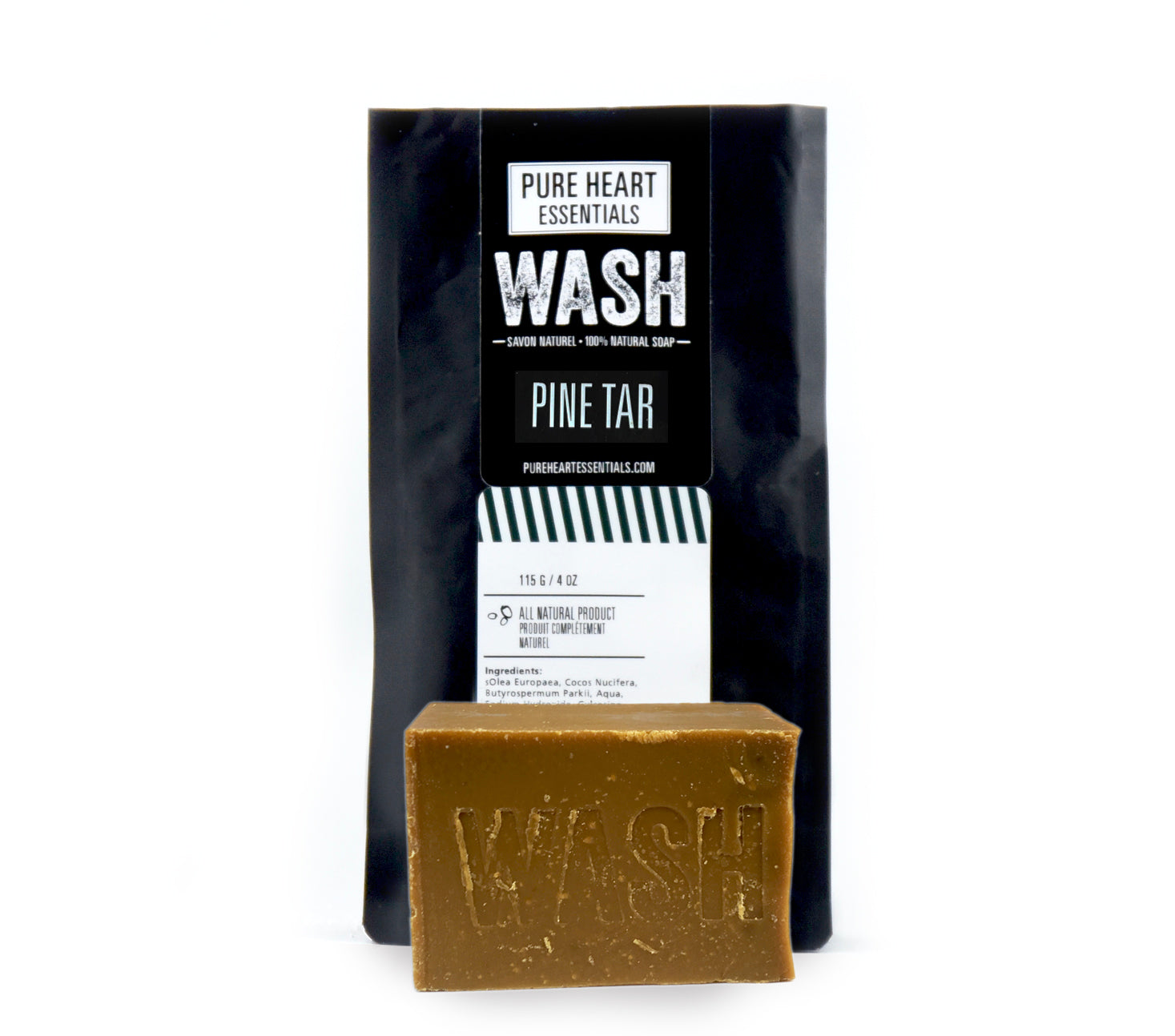WASH –  PINE TAR SOAP (VEGAN)