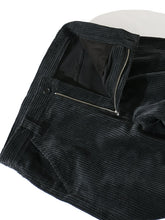 "Load image into Gallery viewer, EVCON ""CORDUROY WIDE PANTS"" col. BLACK"