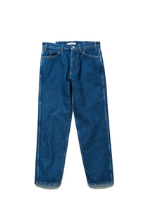 "LIVING CONCEPT ""5 POCKET DENIM TAPERED PANTS"" col.BLUE"