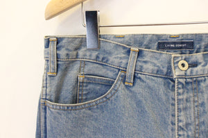 "LIVING CONCEPT ""5 POCKET WIDE TAPERED DENIM PANTS"" col.L.BLUE"