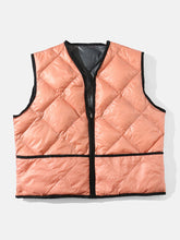 "Load image into Gallery viewer, mfpen ""STUDIO VEST"" col. GRAY / LIGHT PINK"