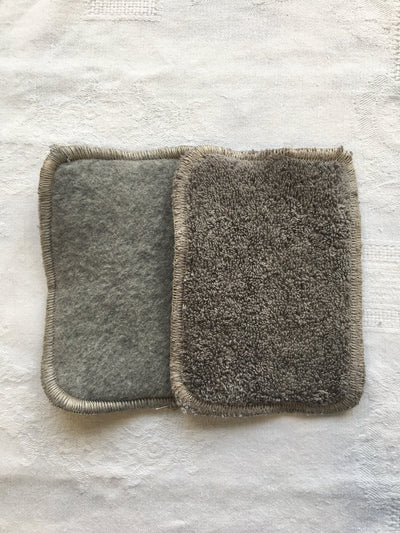 Tendresse gris - lot de 3 lingettes lavables