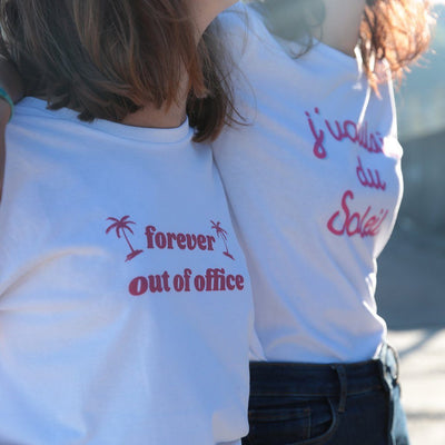 T-shirt bio Forever out of office