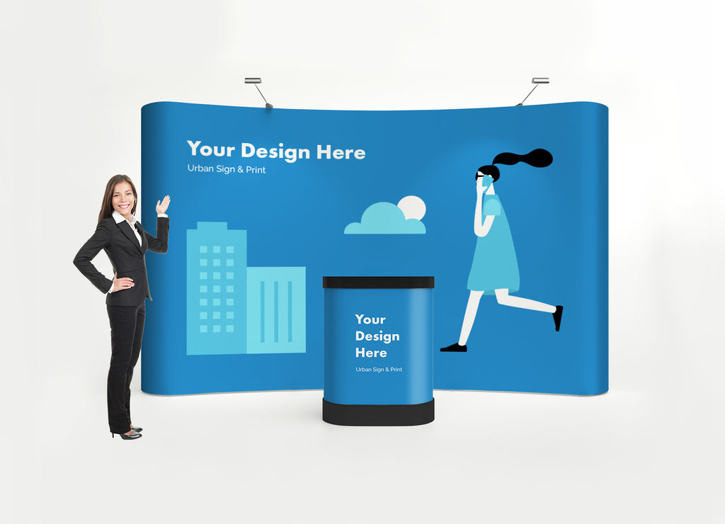 San Diego 10ft Wave Pop Up Display - Urban Sign and Print