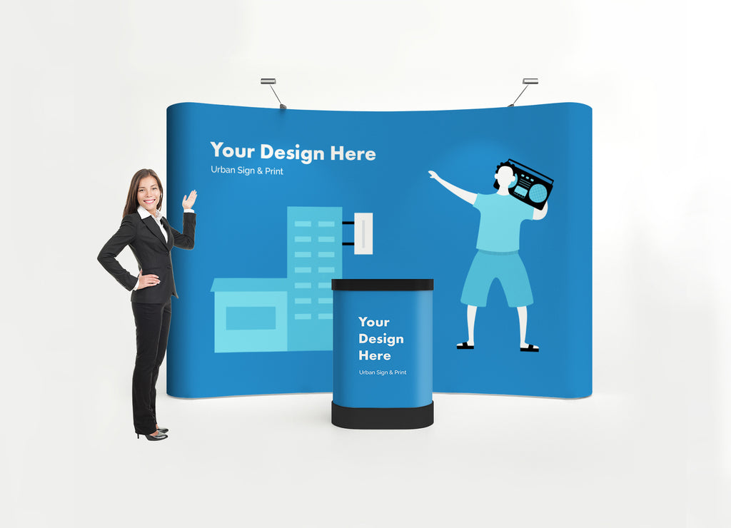 San Diego 8ft Wave Pop Up Display - Urban Sign and Print
