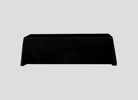 San Diego Black Full Color Table Throw - Urban Sign and Print
