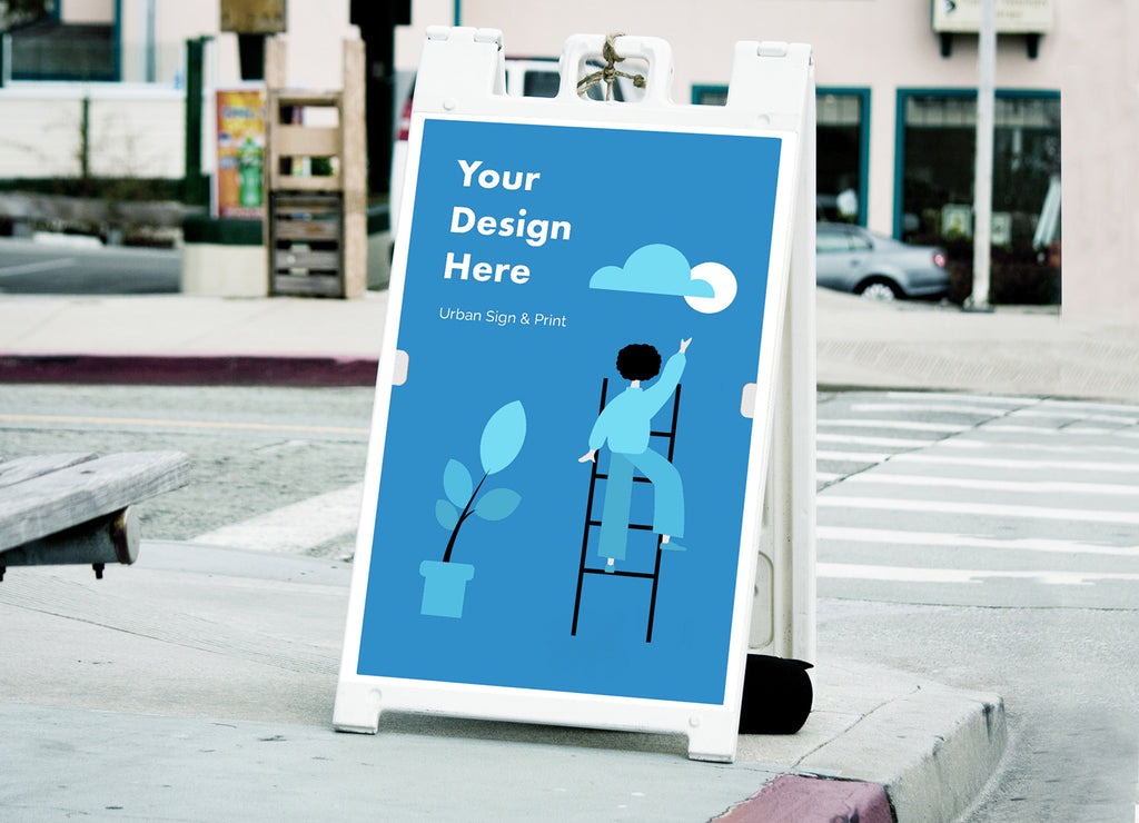 San Diego A Frame Signs Sandwich Boards - Urban Sign and Print