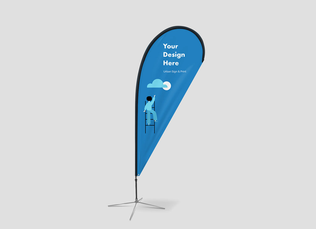 San Diego Teardrop Flag Banners - Urban Sign and Print