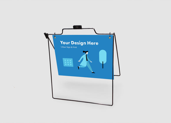 San Diego Wireframe Sidewalk Signs - Urban Sign and Print