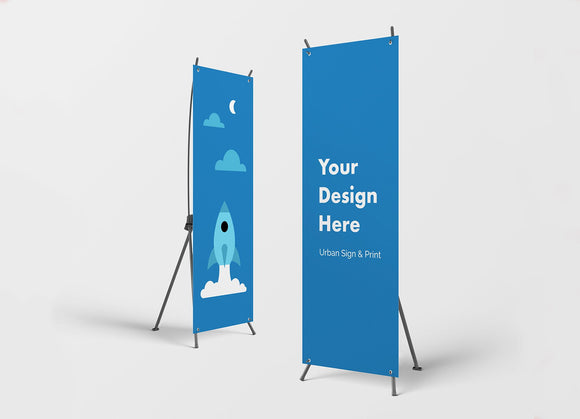 San Diego X Banner Stands - Urban Sign and Print
