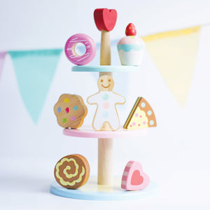 Drie levels cake stand