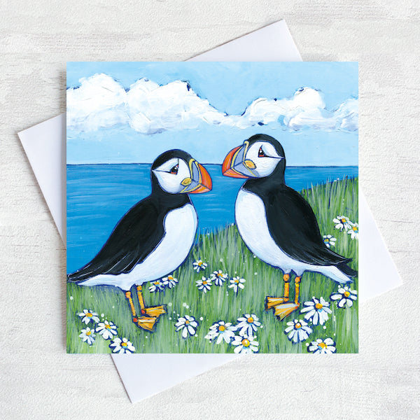 Painting Puffins: Northumberland's Quirkiest Bird