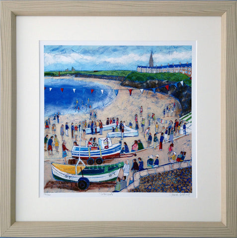 Cullercoats Bay Painting north east coast picture joannewishart gallery
