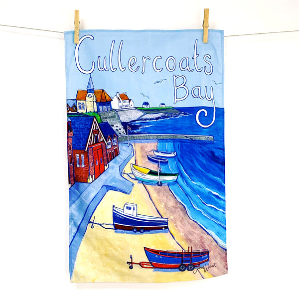 Cullercoats gift tea towel geordie gifts north east gifts newcastle gifts