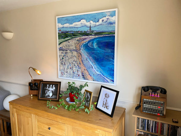 A photograph of a Joanne Wishart original painting in Geoff Loves Home.