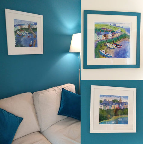 Joanne Wishart prints in customers home in Alnmouth