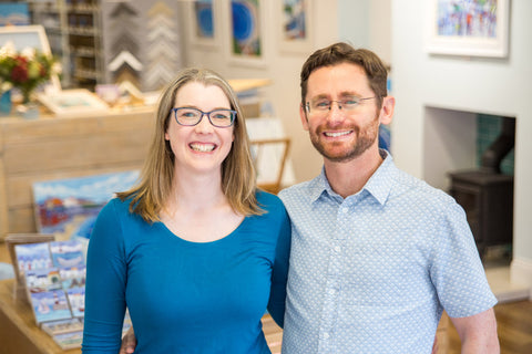 Joanne and Ross Wishart North east Art Gallery Owners Cullercoats