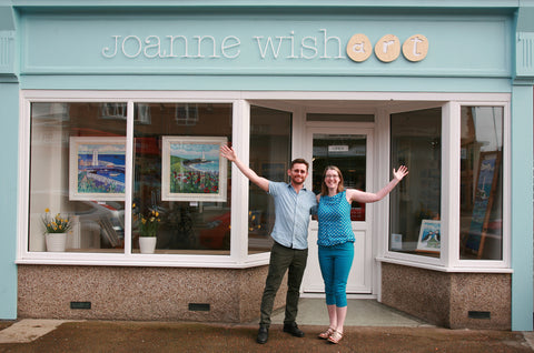 Joanne Wishart Gallery Cullercoats North East artist newcastle gallery