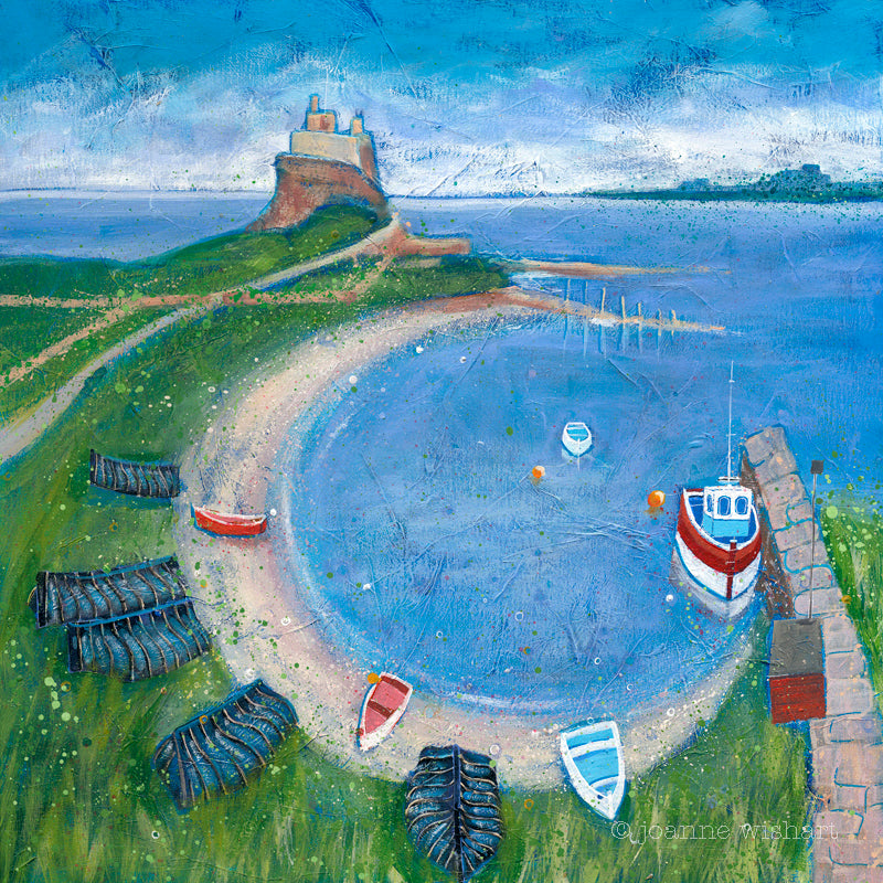 Lindisfarne holy island northumberland pictures paintings prints joanne wishart north east art gallery