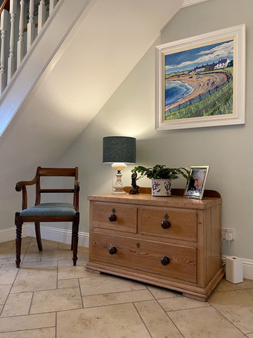 Low Newton Painting by Joanne Wishart in customers home
