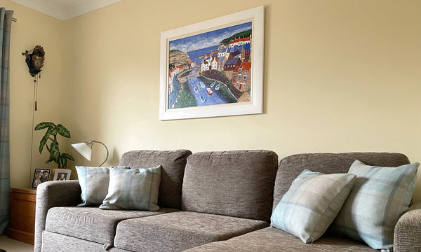 Staithes Painting by Joanne Wishart in Customers home