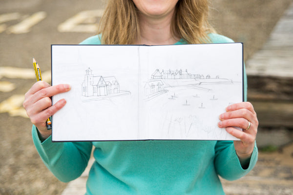 sketchbook joanne wishart artist north east cullercoats gallery